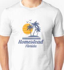 Homestead Florida Shirt FL State Home City Tourist Travel Souvenir Beach Gift Unisex T-Shirt