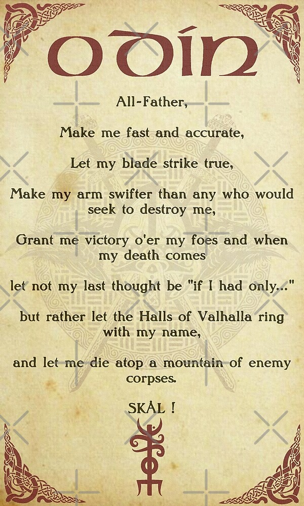 Prayer To Odin by FantasySkyArt