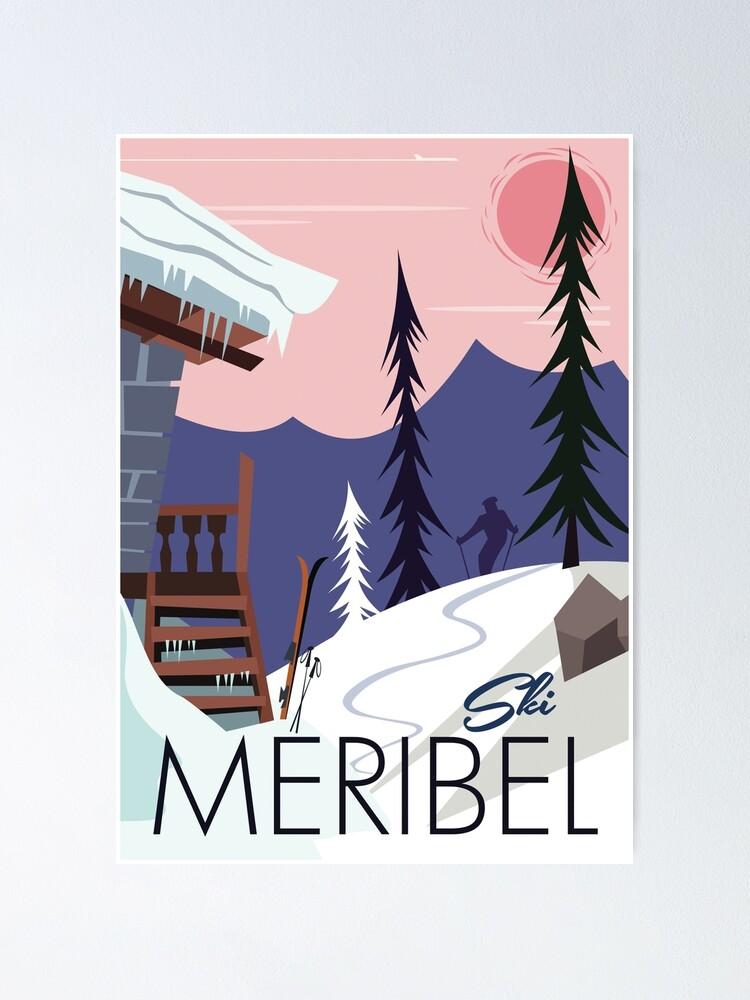 Meribel Ski Resort Poster
