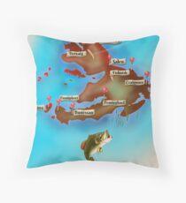 Isle of Mull Scotland map Floor Pillow
