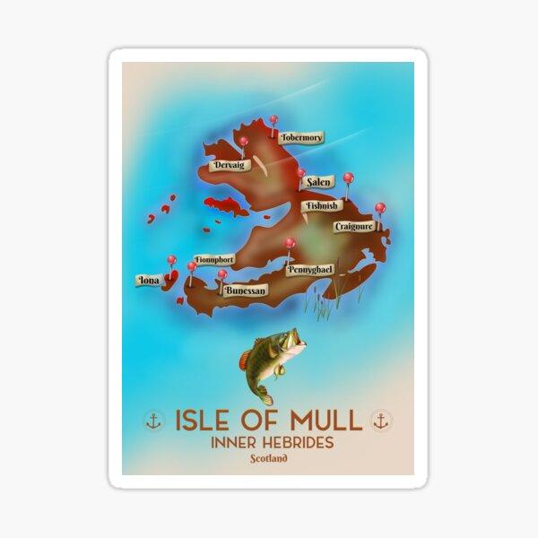 Isle of Mull Scotland map Sticker