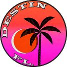 Destin Florida Vintage Style Sunset Palm Tree by MyHandmadeSigns
