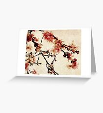 Vintage Cherry Blossoms Greeting Card