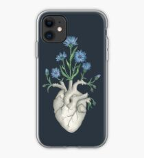 Floral Heart: Human Anatomy Cornflower Flower Christmas Gift iPhone Case