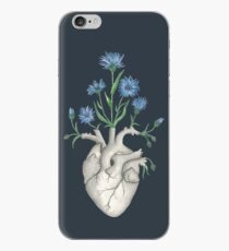 Floral Heart: Human Anatomy Cornflower Valentines Day Gift iPhone Case