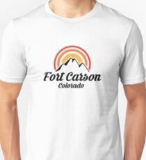 Fort Carson Colorado Shirt CO State Home City Tourist Travel Souvenir Skiing Gift Slim Fit T-Shirt