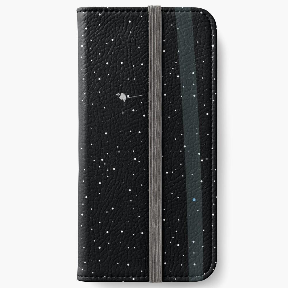 Hellblauer Punkt iPhone Flip-Case