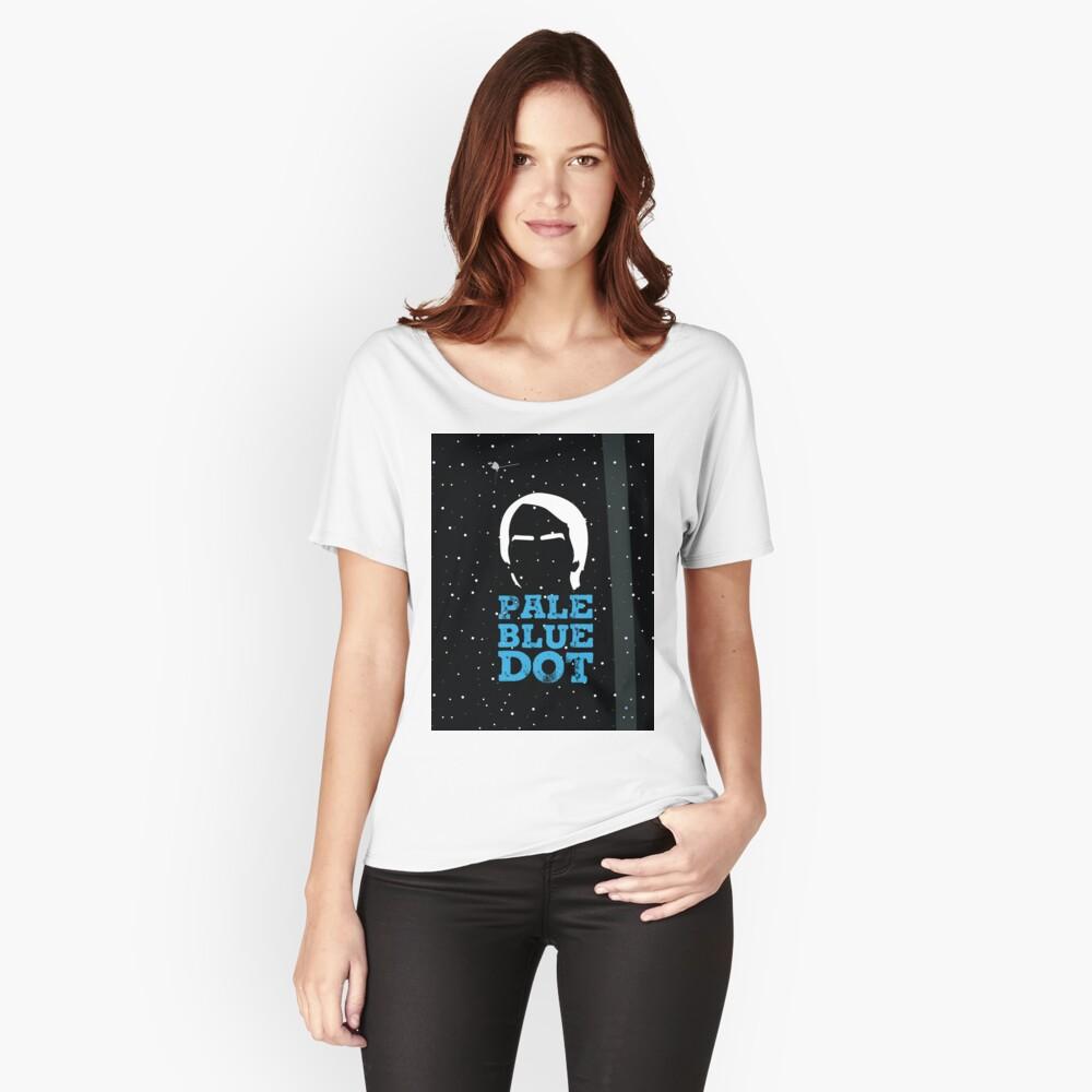 Hellblauer Punkt Loose Fit T-Shirt