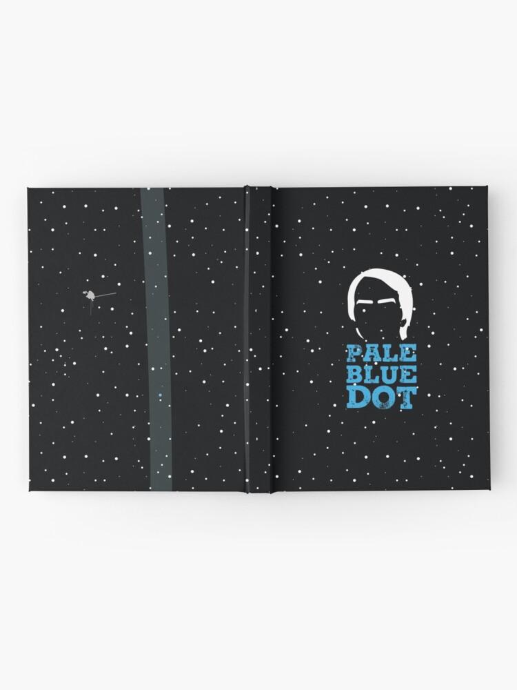 Alternative Ansicht von Hellblauer Punkt Notizbuch