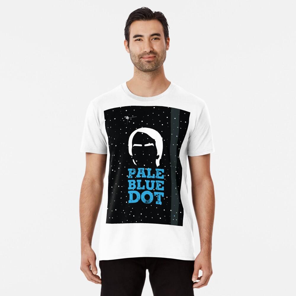 Hellblauer Punkt Premium T-Shirt