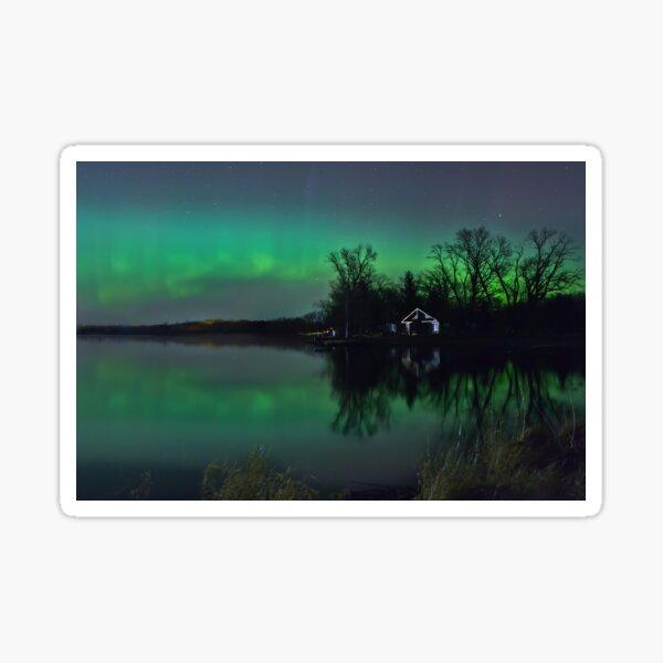 Northern Lights at Gull Lake Sticker