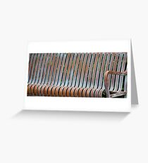 Bench Lines Greeting Card
