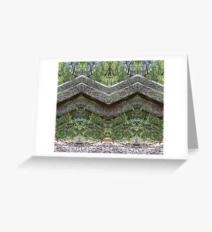 Mirrored Rocks Greeting Card