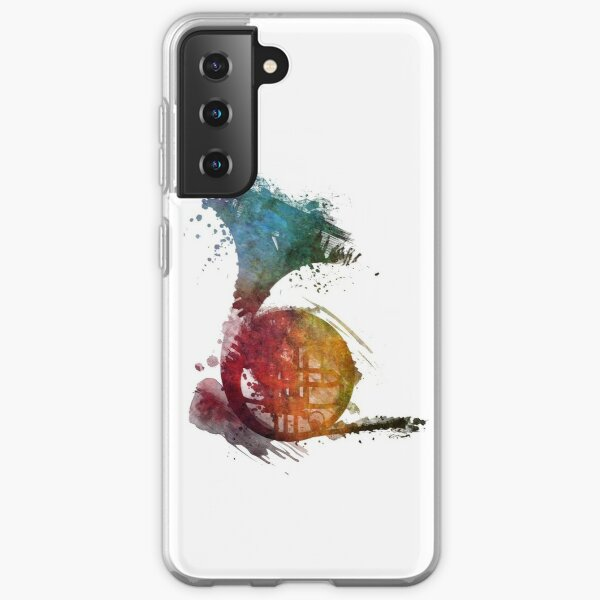French horn watercolor  Samsung Galaxy Soft Case