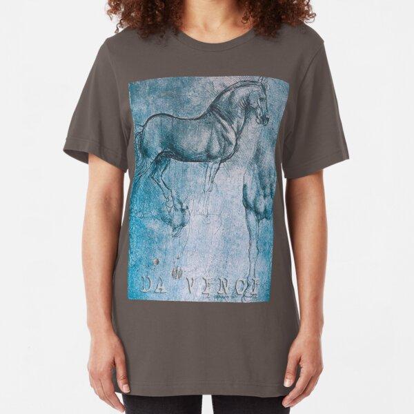 Da Vinci Horse Slim Fit T-Shirt