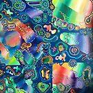 PUZZLED PARTICLES original acrylic painting Unus Mundus Art by Jasmine Raskas in St. Louis  by unusmundusart