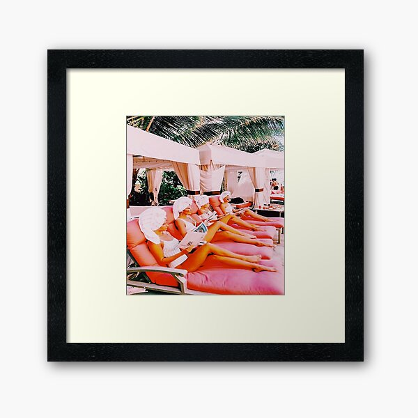 BY THE POOL Framed Art Print