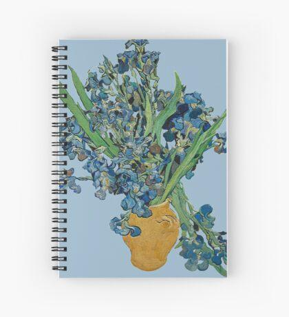Van Gogh Iris Grunge Spiral Notebook