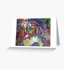 Mermaid Pillow Card Greeting Card