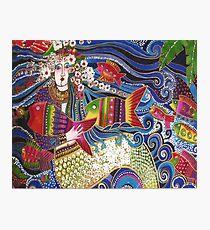 Mermaid Pillow Card Photographic Print