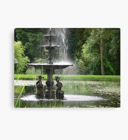 A country fountain Canvas Print