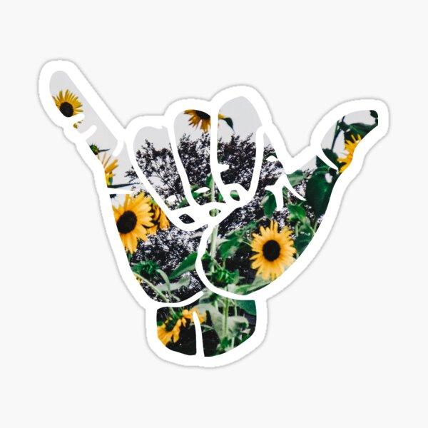 Shaka Sticker - Sunflowers Sticker