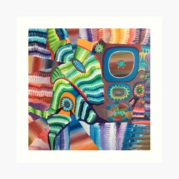 PLAYTIME original acrylic painting Unus Mundus Art by Jasmine Raskas in St. Louis  Art Print