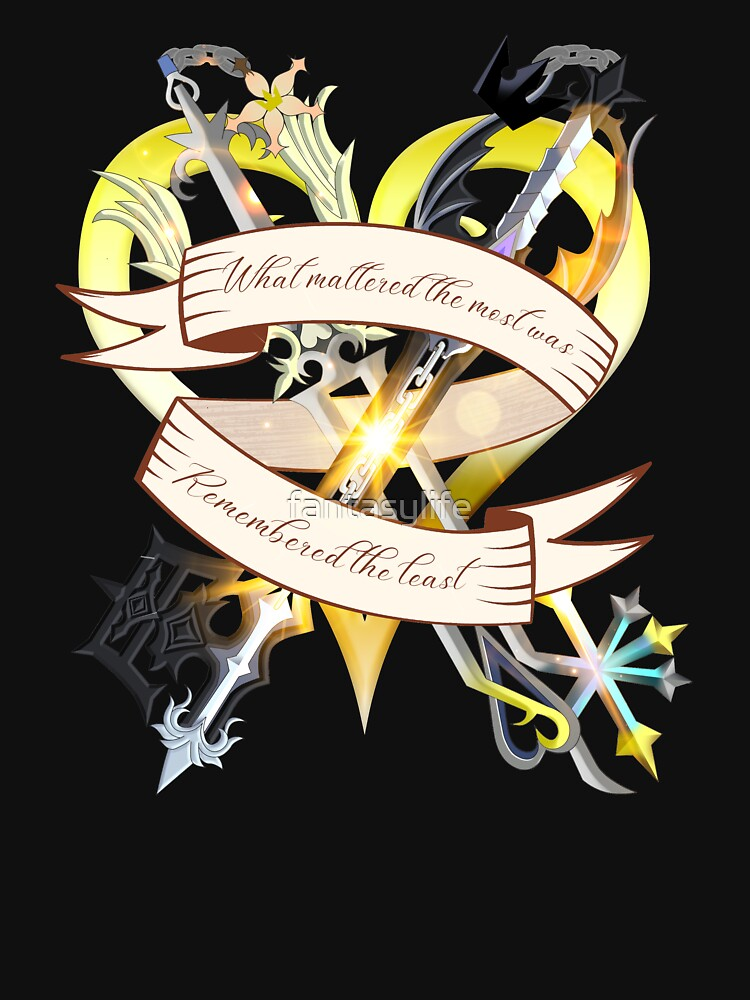 Kingdom Hearts Oblivion And Oathkeeper T Shirt By Fantasylife