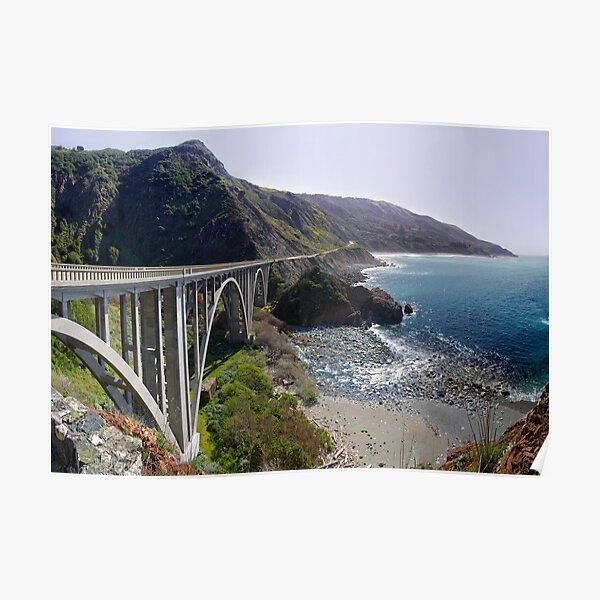 Rocky Creek Bridge Big Sur Poster