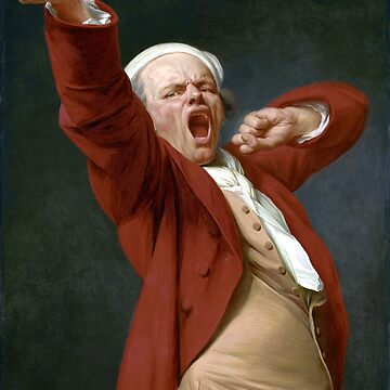Joseph Ducreux Self-Portrait, Yawning by pdgraphics