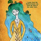 Mediterranean girl by Nadine Feghaly