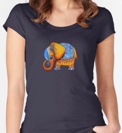 The Littlest Elephant TShirt Women's Fitted Scoop T-Shirt