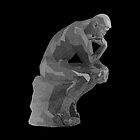 The Thinker(Le Penseur). Low Poly Illustration. by Sonof-Deair
