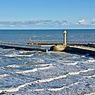 Entrance to Whitby Harbour. by John (Mike)  Dobson