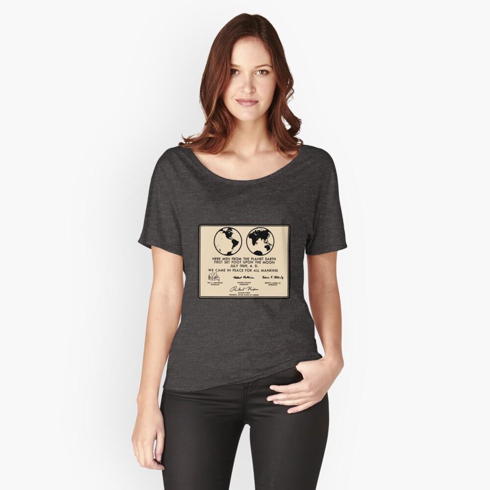 NASA Apollo 11 Lunar Plaque Anniversary Relaxed Fit T-Shirt
