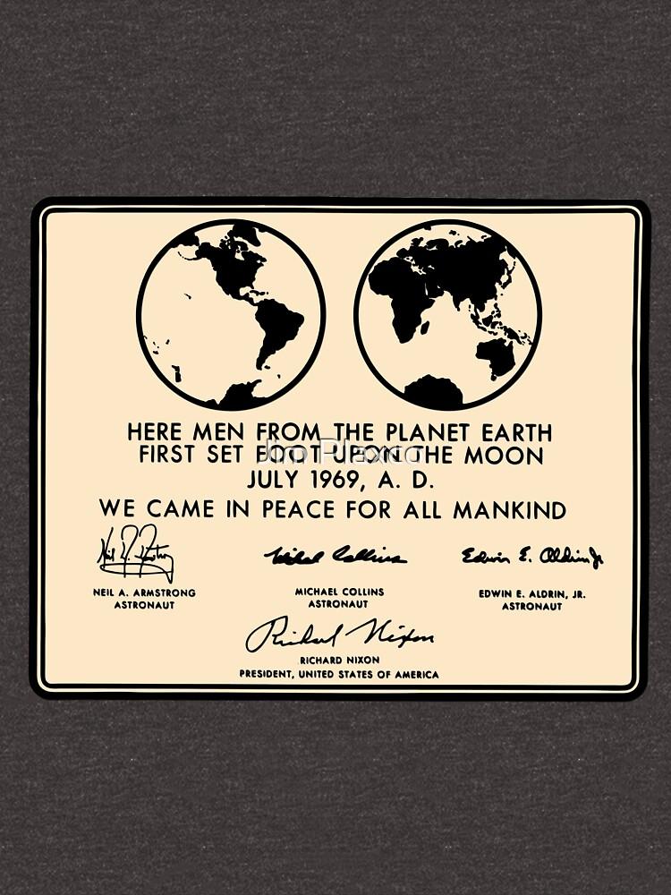 NASA Apollo 11 Lunar Plaque Anniversary by JimPlaxco