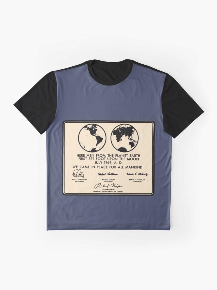 Alternate view of NASA Apollo 11 Lunar Plaque Anniversary Graphic T-Shirt