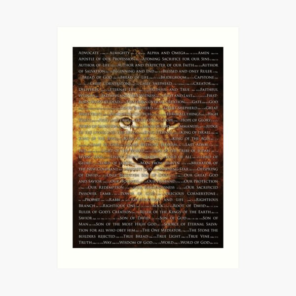 The Names of God Art Print