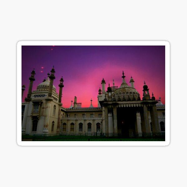 Brighton Royal Pavilion Sunset Remix Sticker
