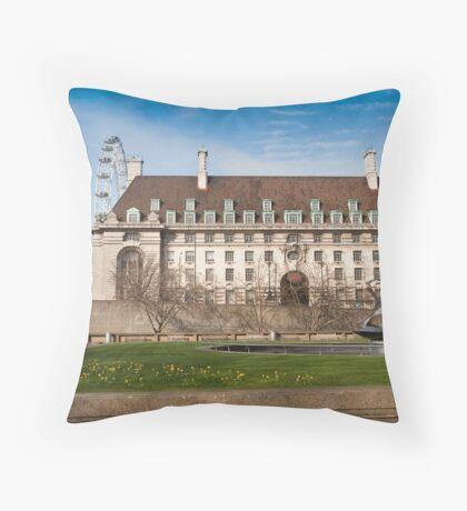 The Marriott Hotel: Westminster Bridge, London, UK. Throw Pillow