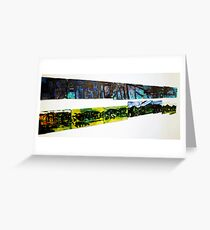 Dark Mountain Light Mountain Wall #1 Greeting Card