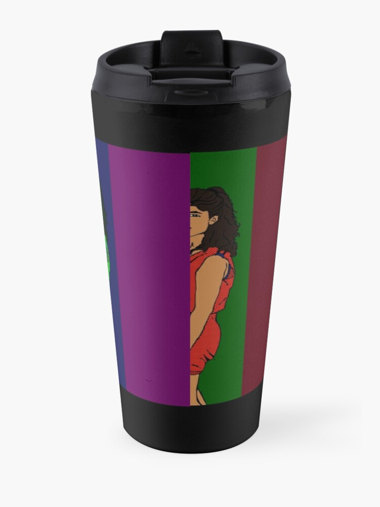 Alternate view of Lady of the 80s Travel Mug