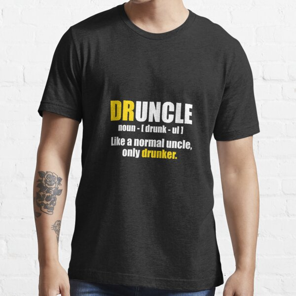 Druncle Drunk Uncle Definition Sports Water Bottle Gin Rum Whisky Beer Funny