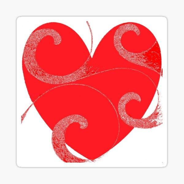 When Love Flows Free Sticker