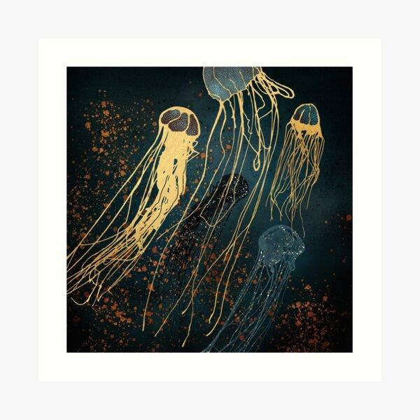 Metallic Jellyfish Art Print