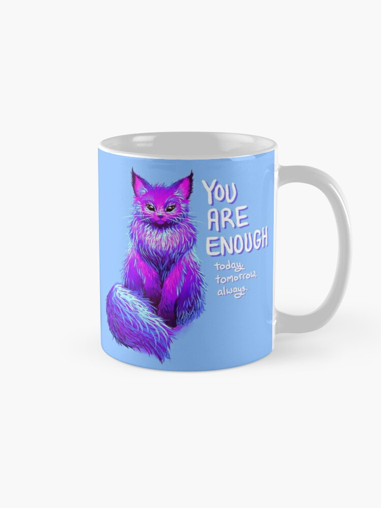 Alternate view of YOU ARE ENOUGH Magical Maine Coon Cat Mug