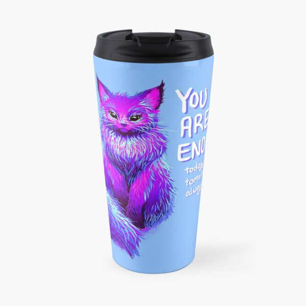 YOU ARE ENOUGH Magical Maine Coon Cat Travel Mug