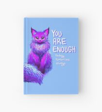 YOU ARE ENOUGH Magical Maine Coon Cat Hardcover Journal