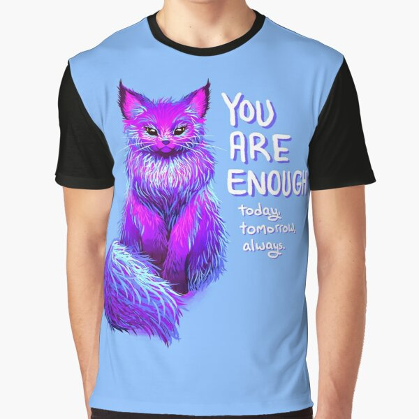 YOU ARE ENOUGH Magical Maine Coon Cat Graphic T-Shirt