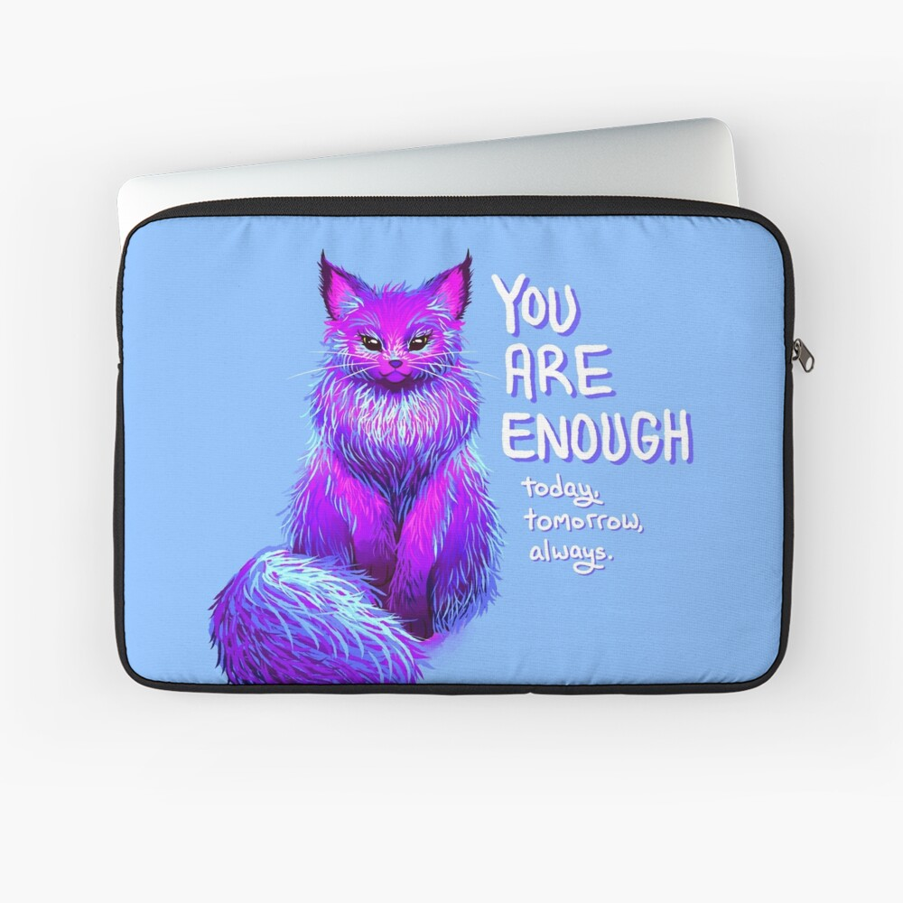 YOU ARE ENOUGH Magical Maine Coon Cat Laptop Sleeve